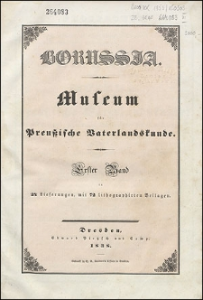 Borussia. Museum für Preußische Vaterlandskunde Bd. 1 (1838), Lief. 19