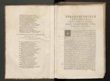 [Theatrum orbis terrarum Abrahami Orteli Antverp. geographi regii]