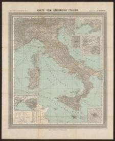Karte vom Königreich Italien