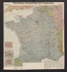 Flemmings Kriegskarte von Frankreich