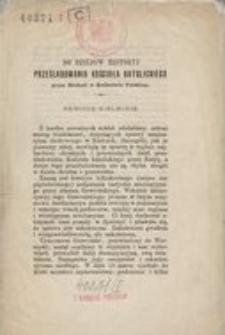Do dziejów historyi prześladowania kościoła katolickiego przez Moskali w Królestwie Polskiem : rewizye kieleckie