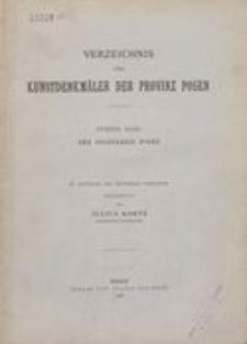 Verzeichnis der Kunstdenkmäler der Provinz Posen. 2, Die Kunstdenkmäler des Stadtkreises Posen