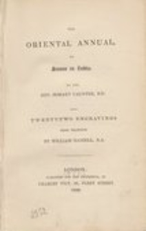 The oriental annual, or scenes in India