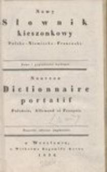 Nowy Słownik kieszonkowy Polsko-Niemiecko-Francuzki