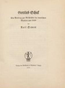 Gottlieb Schick : ein Beitrag zur Geschichte der deutschen Malerei um 1800