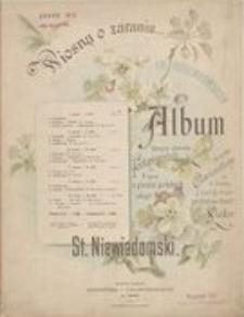 Wiosną o zaraniu [...] : Album łatwych utworów fortepianowych na 4 ręce [...] Op. 8