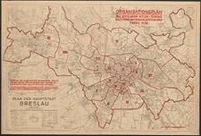 Plan der Hauptstadt Breslau : Organisationsplan der Breslauer Hitler-Jugend. Nach der Umorganisation vom 1. April 1938