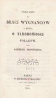 Posłanie do braci wygnańców i Mowa o narodowości Polaków