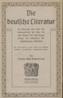 Die deutsche Literatur im Zeitraum von dem Zusammenbruch bei Jena bis zum Beginn der Befreudungskriege, mit besonderer Bedrücksichtigung Schlesiens.