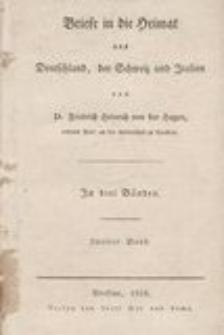 Briefe in die Heimat aus Deutschland, der Schweiz und Italien. T. 2