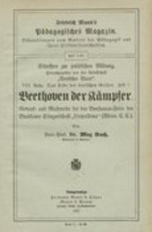 """Beethoven der Kämpfer : Gedenk-und Mahnrede bei der Beethoven-Feier der Breslauer Sängerschaft """"Leopoldina"""""""