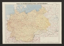 Karte von Großdeutschland, Polen und Grenzländern