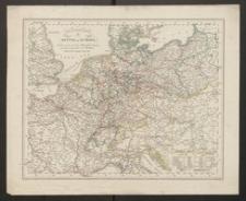 Post und Reise Karte von Mittel-Europa [...]