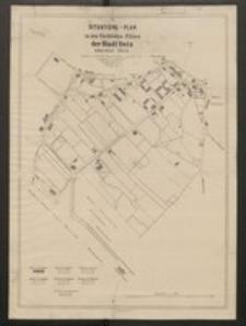 Situations-Plan zu den Fluchtlinien-Plänen der Stadt Oels, Kreises Oels