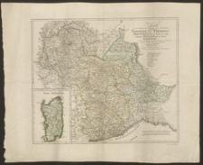 Karte von den Staten des Königs von Sardinien enthaltend Savoyen und Piemont Montferrat ein Theil vom Herzogthum Mailand und die Insel Sardinien, nach der 8ten Auflage der Erdbeschreibung [...] Büsching bearbeitet von D.F. Sotzmann