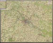 Pharus-Wanderkarte der weiteren Umgebung von Breslau mit den Kreisen: Wohlau, Trebnitz, Oels, Brieg, Strehlen, Reichenbach, Schweidnitz und Neumarkt