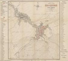 Lage-Plan von Bad Landeck anschliesslich Stadt Landeck in Schlesien