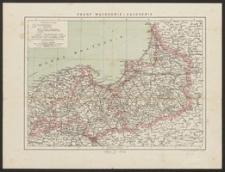 Mapa szczegółowa Prus Wschodnich i Zachodnich