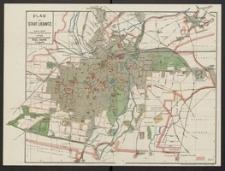 Paul Baron's Stadtplan von Liegnitz