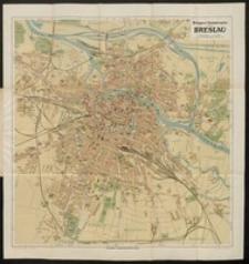 Verkehrsplan von Breslau mit Straßenverzeichnis und einem Verzeichnis der Behörden, öffentlichen Gebäude, Denkmäler usw.