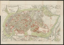 Plan der Stadt Strassburg augestellt nach dem amtlichen Bebauungsplan