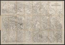 Topographische Karte vom Riesengebirge
