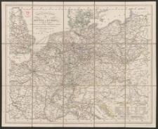Post und Reise Karte von Mittel-Europa : mit Angabe der Eisenbahnen