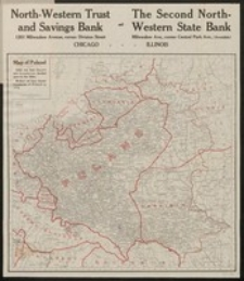 Victory map of Poland : compliments of the North-Western Trust and Savings Bank [...] and Second North-Western State Bank [...]