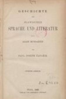 Geschichte der slawischen Sprache und Literatur nach allen Mundarten