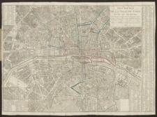 Plan routier de la ville de Paris et de ses Faubourgs