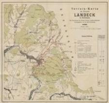 Terrain-Karte des Kurortes Landeck in Schlesien. Mit Benutzung der Königl. Preuss. Landes-Aufnahme herausgegeben von der Bad-Verwaltung
