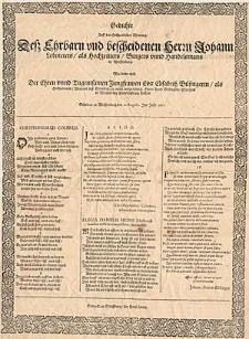 Gedichte Auff den Hochzeitlichen Ehrentag Dess Ehrbarn und bescheidenen Herrn Johann Lobmeiers als Hochzeitters Burgers unnd Handelsmans in Weissenburg [...].