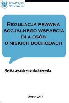 Regulacja prawna socjalnego wsparcia dla osób o niskich dochodach