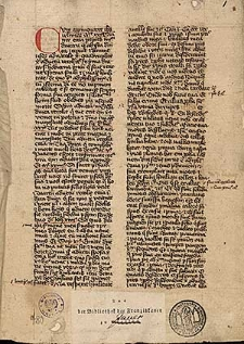 Postilla de tempore, pars hiemalis; Sermones de sanctis; Commune sanctorum