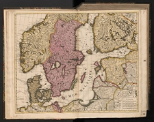 Carte des Courones du Nord dediée au tres puissant et tres invincible prince Charles XII roy de Suede, des Gots et des Vandales grand duc de Finlande &c.
