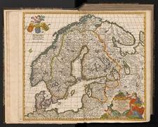 Novissima et accuratissima Scandinaviae tabula, complectens Regnorum Sueciae, Daniae et Norwegiae exacte divisam descriptionem