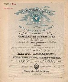 Hexameron. Morceau de concert. Grandes variations de bravoure pour pian [...]o