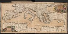 Accuratissima Orientalioris districtus Maris Mediterranei tabula. Accuratissima Occidentalioris districtus Maris Mediterranei tabula. Authore Iusto Danckerts