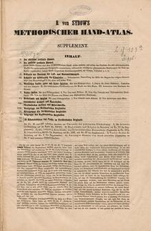 Methodischer Hand-Atlas. Supplementband