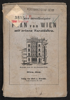 Plan von Wien mit seinen Vorstädten