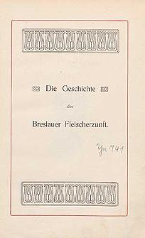 Die Geschichte der Breslauer Fleischerzunft