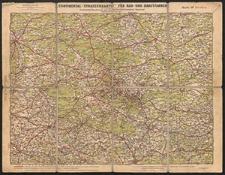 Continental Straßenkarte für Rad- und Kraftfahrer. Beuthen Nr. 38