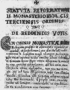 Statuta Reformationis Monasteriorum Cisterciensis Ordinis