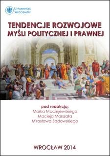 Notatka o Katedrze Doktryn Politycznych i Prawnych Wydziału Prawa i Administracji UMCS w Lublinie
