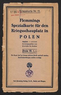 Flemmings Spezialkarte für den Kriegsschauplatz in Polen