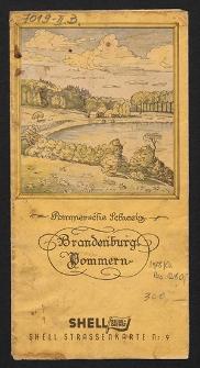 Shell Straßenkarte. Brandenburg Pommern Nr. 9