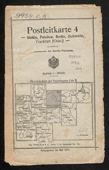 Postleitkarte 4. Stettin, Potsdam, Berlin (Schwerin (Meckl.), Frankfurt (Oder))