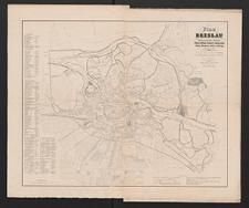 Plan von Breslau und den angrenzenden Ortschaften Gabitz, Höfchen, Neudorf, Lehmgruben, Huben, Morgenau, Zedlitz, Scheitnig