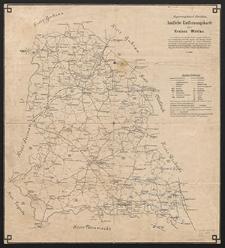 Amtliche Entfernungskarte des Kreises Wohlau