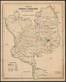 Mapa powiatu żarskiego : woj. wrocławskie
